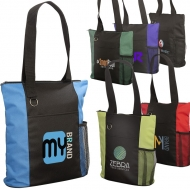 ESSENTIAL TRADE SHOW TOTE WITH ZIPPER CLOSURE